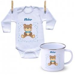 Szett Maci - Fiú (a baba nevével)