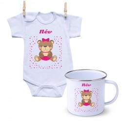 Szett Maci - Lány (a baba nevével)