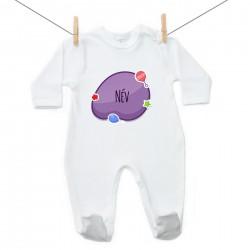 Overál Lila buborék (a baba nevével)