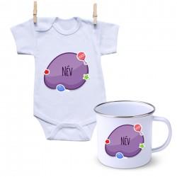Szett Lila buborék (a baba nevével)