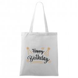 Táska - fehér Happy birthday