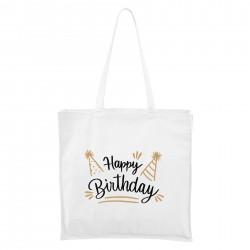 Maxi Táska - fehér Happy birthday