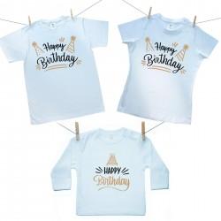 Családi szett (hosszú ujjú póló) Happy birthday