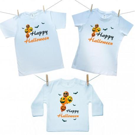 Családi szett (hosszú ujjú póló) Happy Halloween