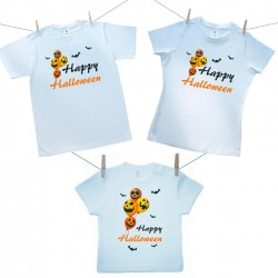 Családi szett (rövid ujjú póló) Happy Halloween
