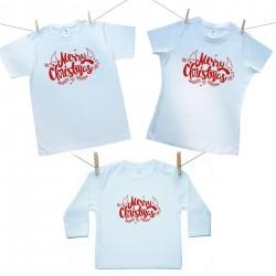 Családi szett (hosszú ujjú póló) Merry Christmas