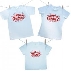 Családi szett (rövid ujjú póló) Merry Christmas