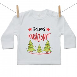 Gyerek póló (Hosszú ujjú) Boldog Karácsonyt