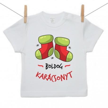 Gyerek póló (Rővid ujjú) Boldog Karácsonyt