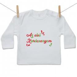 Gyerek póló (Hosszú ujjú) Az első Karácsonyom