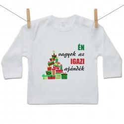 Gyerek póló (Hosszú ujjú) Én vagyok az igazi ajándék