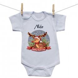 Baba body (Rővid ujjú) Boldog Karácsonyt (a baba nevével)