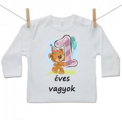 Gyerek póló (Hosszú ujjú) 1 éves vagyok
