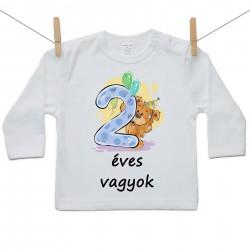 Gyerek póló (Hosszú ujjú) 2 éves vagyok