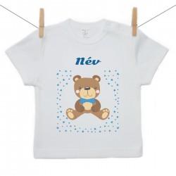 Gyerek póló (Rővid ujjú) Maci - Fiú (a baba nevével)