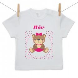 Gyerek póló (Rővid ujjú) Maci - Lány (a baba nevével)