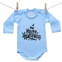 Hosszú ujjú body (kék) Happy Halloween