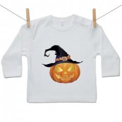 Hosszú ujjú póló Halloween tök
