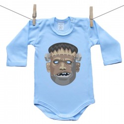 Hosszú ujjú body (kék) Frankenstein