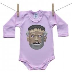 Hosszú ujjú body (rózsaszín) Frankenstein