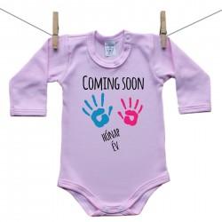 Hosszú ujjú body (rózsaszín) Coming soon