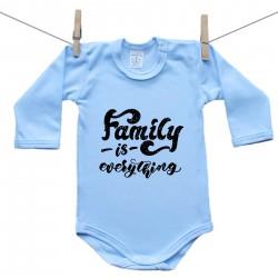 Hosszú ujjú body (kék) Family is everything
