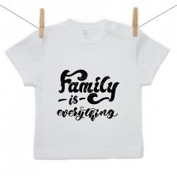Rövid ujjú póló Family is everything