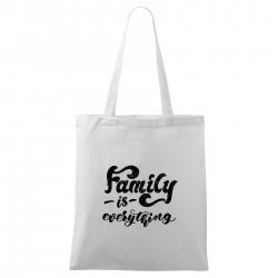 Táska - fehér Family is everything