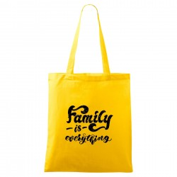 Táska - sárga Family is everything