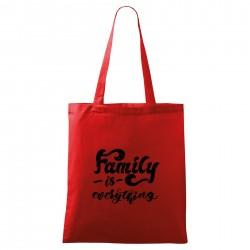 Táska - piros Family is everything