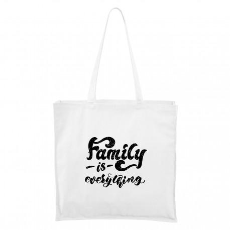 Maxi Táska - fehér Family is everything