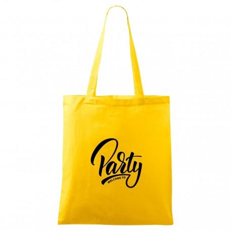 Táska - sárga Welcome to party