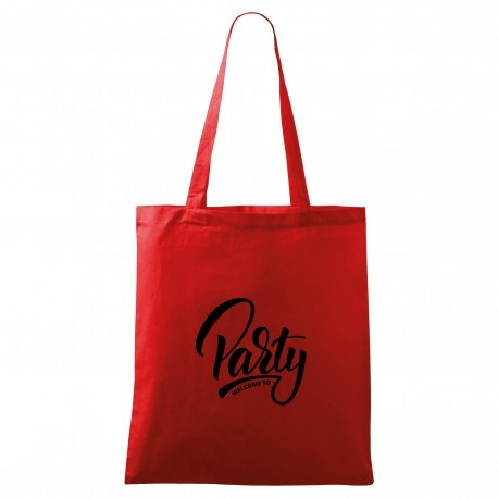 Táska - piros Welcome to party