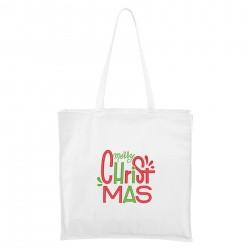 Maxi Táska - fehér Merry Christmas