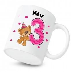 Bögrék 3 éves vagyok - lány (a baba nevével)