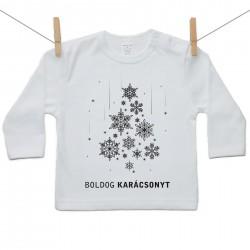 Hosszú ujjú póló Boldog Karácsonyt