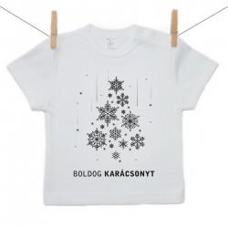 Rövid ujjú póló Boldog Karácsonyt