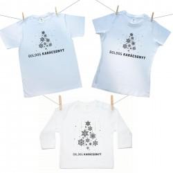 Családi szett (hosszú ujjú póló) Boldog Karácsonyt