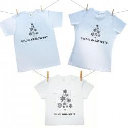 Családi szett (rövid ujjú póló) Boldog Karácsonyt