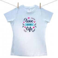 Női póló Love of my life