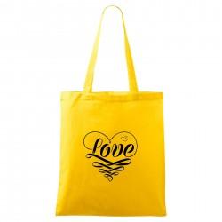 Táska - sárga Love